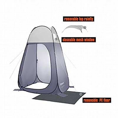 Portable Pop Up Privacy Shelter Blue Polyester: Home & Kitchen