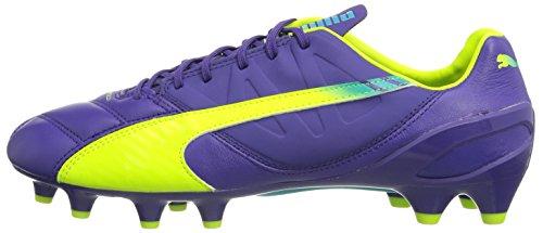 Blue Chaussures Evospeed Puma Fg Lth 1 Scuba De Fluro Soccer Prism 3 Jaune Violet 01 RwSzdqO