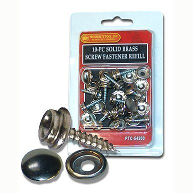 Screw-In Snap Stud Replacement Kit Nickel Plated Brass By Protool