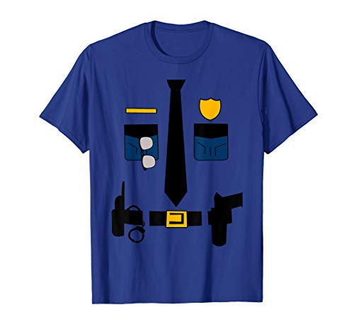 Police Sheriff Uniform Funny Halloween Costume T Shirt Gifts ()