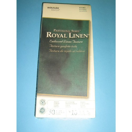(Wausau PaperTM, Professional Series Royal Linen, Embossed Linen Texture, Ivory, 50 Enveloes, No. 10, 4 1/8