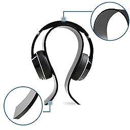 AmoVee Acrylic Headphone Stand Gaming Headset Holder / Hanger - Black