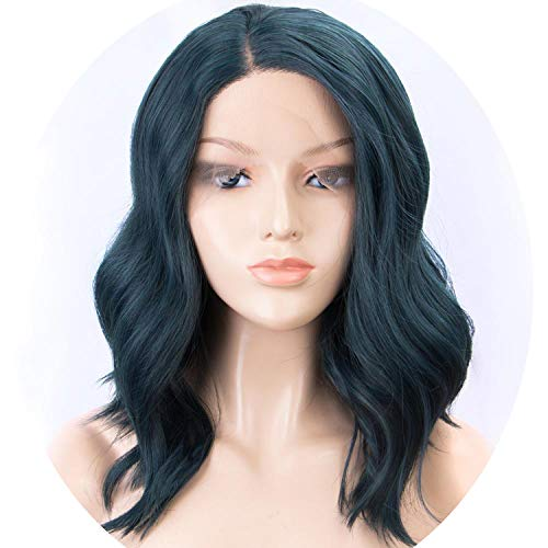 Dark Roots Short Bob Wavy Purple Wig 150% Density Ombre Wigs for Women,A0401,12inches