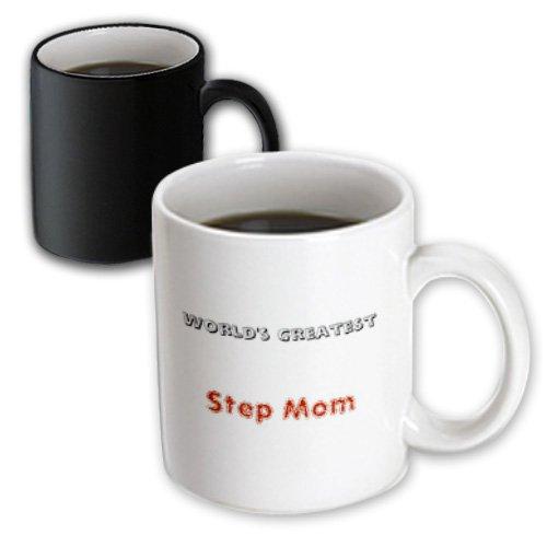 3dRose mug_27928_3 Worlds Greatest Step Mom - Magic Transforming Mug, Multicolor, 11 oz (Worlds Greatest Step Three)