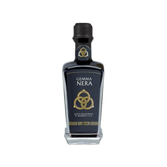 Gemma Nera Premium Balsamic Vinegar of Modena IGP from Toschi (250 ml) 1 Gemma Nera IGP represents Toschi's top production, with a round and velvety taste Offers a bittersweet soul with a full, distinct flavor Aged 2 months in oak barrels, enjoy this balsamic on Parmigiano, ice cream and on strawberries