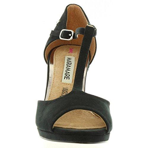Zapatos de tacón de Mujer MARIA MARE 65836 TEXT SUAVE NEGRO