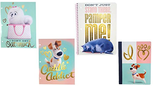 Chloe 1 Light Chandeliers - Secret Life of Pets Notebook, Composition Notebook, Folders, Back to School Bundle (Chloe Notebook)