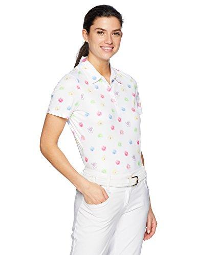 - Greg Norman Women's Daisy Field Short Sleeve Polo Golf Shirt, White, XX-Large