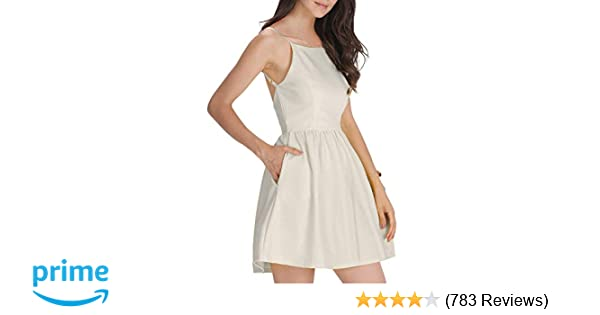 dfde80ccc224 FANCYINN Women Sexy Spaghetti Strap Floral Print Mini Casual Dress at  Amazon Women's Clothing store: