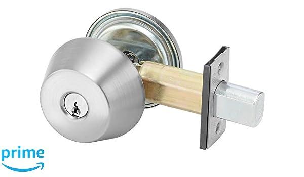 Cylinder by Thumbturn 626 Satin Chrome Finish Para Keyway 2 3//4 Backset Yale D212 x 626 x 1807 KR 200 Series Deadbolt Keyed Random 6 Pin