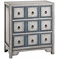 Stein World Furniture 3-Drawer Chest, Polar White/Smoke Blue
