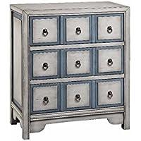 Stein World Furniture 3-Drawer Chest, Polar White/Smoke Blue