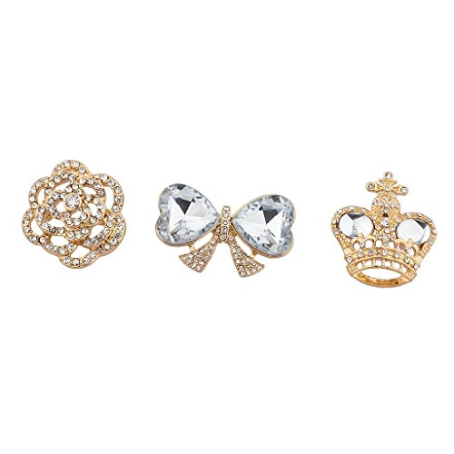 Lux Accessories Goldtone Royal Pin Set (3PC) from Lux Accessories