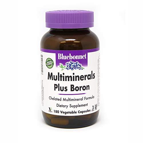 BlueBonnet Multi Minerals Plus Boron Vegetarian Capsules, 180 - Mineral Capsules Multi 180