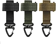 Nylon Glove Holder Strap Camping Belt Rope Hanger Keys Grabber Hook,3 PCS Adjustable Work Glove Holder for Cam