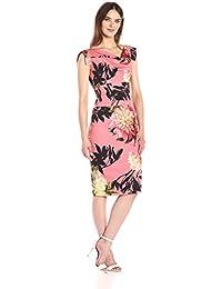 Women's Tropical Print Jackie O Dress