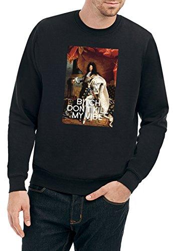 Ludwig Bitch dont Kill my Vibe Sweater Nero Certified Freak