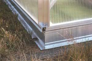 Base de aluminio marco para invernadero tipo F4