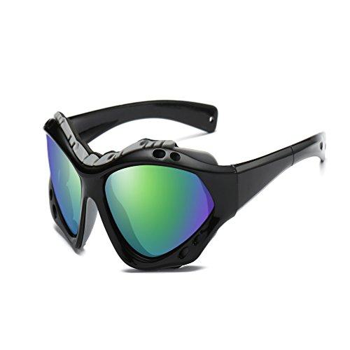Gafas De Polarizadas Multicolored LUIHUIYUAN Sol Arena Alpinismo Viento Deportes Espejo Aire Black Al Libre Colorido x7xvz6