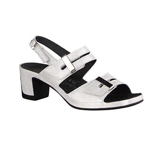 Vital Joy 0506-16010 - Damenschuhe Sandalette / Sling, Weiß, leder, absatzhöhe: 50 mm weiß - offwhite