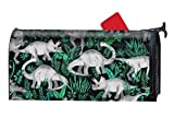 Verna Christopher Dinosaur Jungle Custom Mailbox Covers Magnetic Mailbox Wrap 9'''' x 21''''