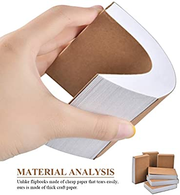 """YOTINO Blank Flipbooks for Animation / 8 Pack 180 Pages 90 Sheets Flip Books 4.5/"""" x 2.5/"""" Sketching and Cartoon Creation"""