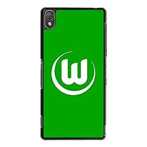 Hot Design VfL Wolfsburg Phone Case Cover For Sony Xperia Z3 VfL Wolfsburg Logo Luxury Pattern