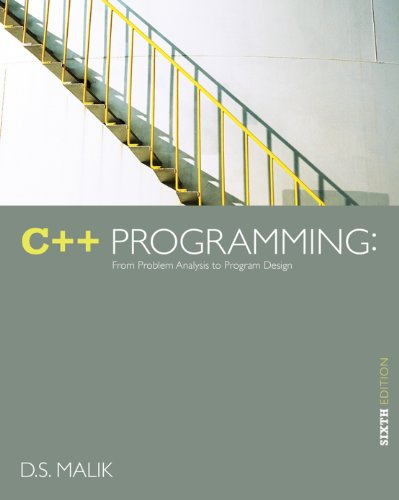 Download C++ Programming: From Problem Analysis to Program Design Pdf