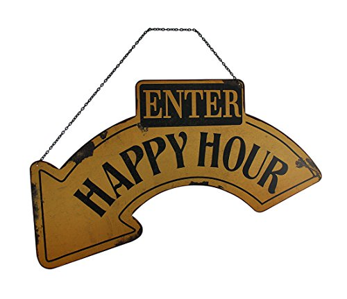 Enter Happy Hour cartel con diseño de flecha: Amazon.es: Hogar