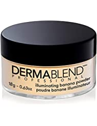 Dermablend Illuminating Banana Powder, Setting Powder Makeup For Brightening, And Long Lasting Luminous Finish, up to 16 Hour Wear, 0.63 Oz.