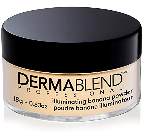 Dermablend Illuminating Banana Powder, Loose Setting Powder Makeup for Brightening and a Long-Lasting Luminous Finish, up to 16hr Wear, 0.63 oz.