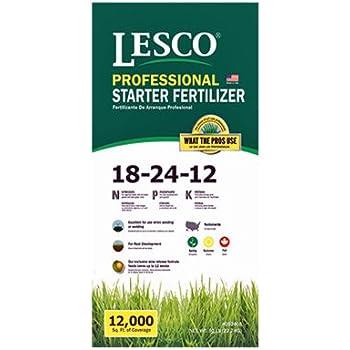 """Augustine Lawn Fertilizer /""""6/% Iron/"""" Lesco 24-2-11 St 12,000 sq. ft. 50 Lbs."""