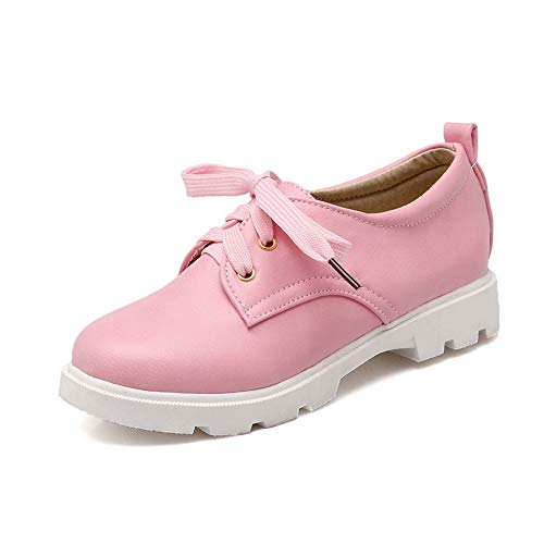Urethane Baguette SDC05522 Womens Pink Solid Shoes Style Walking Travel AdeeSu tZXwTx