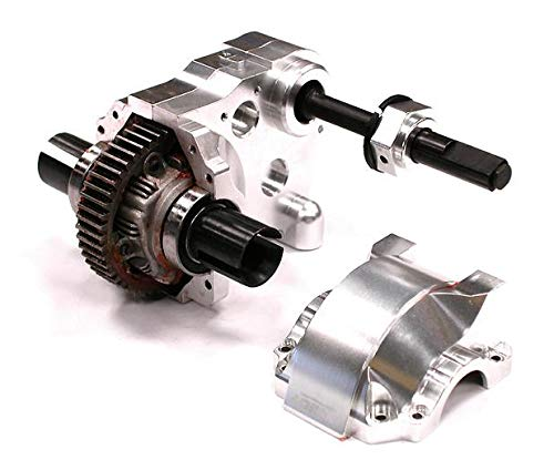 Integy RC Model Hop-ups BAJ176SILVER Type IV Complete Gear Box w/Heavy-Duty Diff & Gears for HPI Baja 5B, 5T & 5SC ()