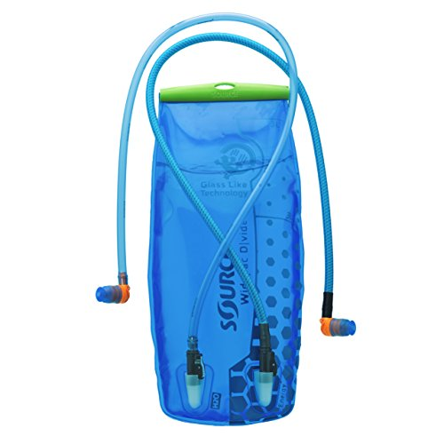 Source Outdoor Widepac Dvide 3-Liter Hydration System, 2 Drinks in 1 (Transparent Blue)