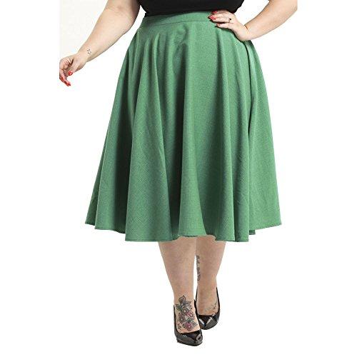 Voodoo Vixen Sandy Full Circle Skirt Plus Size Green 2XL