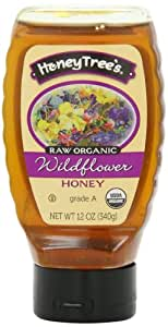 HoneyTree's Raw Organic Honey, Wildflower, 12 Ounce