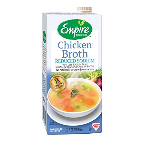Empire Kosher Poultry Chicken Broth Reduced Sodium, 32 Fluid Ounce by Empire Kosher