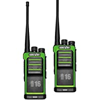 ContalkeTech CTET-5698B 5W 3mile Two-Way Ham Radio Transceiver with built-in LCD Display UHF 400-480MHz VOX Self-illumination Battery Charger Programming cable and software included Green (2 Packs)