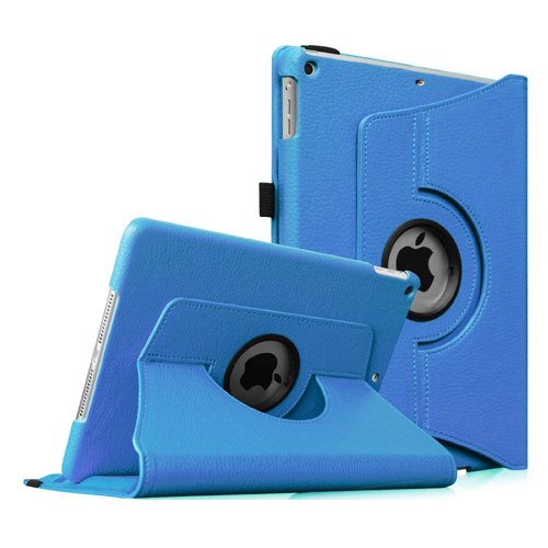 Fintie iPad mini 1/2/3 Case - 360 Degree Rotating Stand Case Cover with Auto Sleep/Wake Feature for Apple iPad mini 1/iPad mini 2/iPad mini 3, Blue