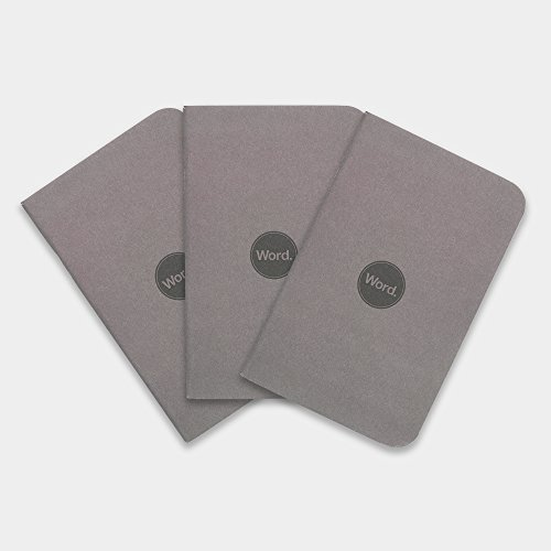 Word. Notebooks Charcoal 3-Pack Small Pocket Notebooks