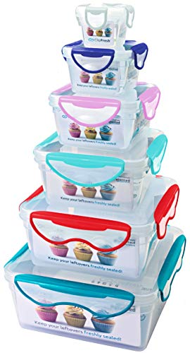 (ClipFresh CFPPST2002X 12-Piece Airtight BPA-Free Plastic Nesting Food Storage Containers with Locking Lids)