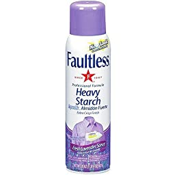 Faultless Professional Formula Fresh Lavender Scent Heavy Starch 2/20 Ounce Containers Included