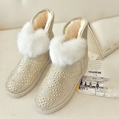 Lining Shoes Fluff UK6 Boots Women'S Ankle Fashion Boots Comfort Heel 5 EU39 Flat Novelty Winter US8 Booties CN40 Fall RTRY Boots Snow Boots Pu Round Bootie Toe 5 1nqYwXq5