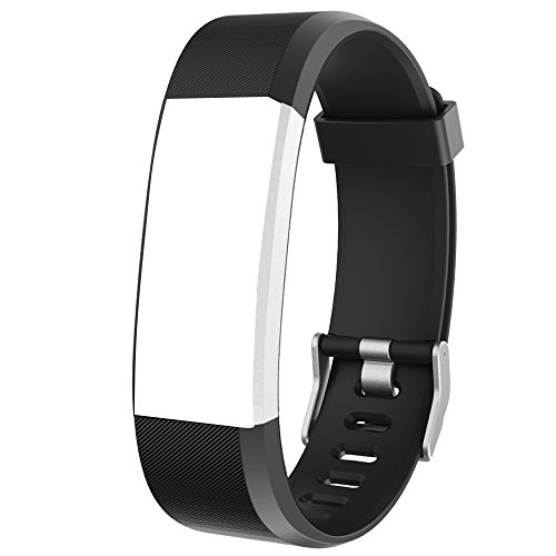 YAMAY Replacement Bands for Fitness Tracker with Color Screen (SW333) (Black)