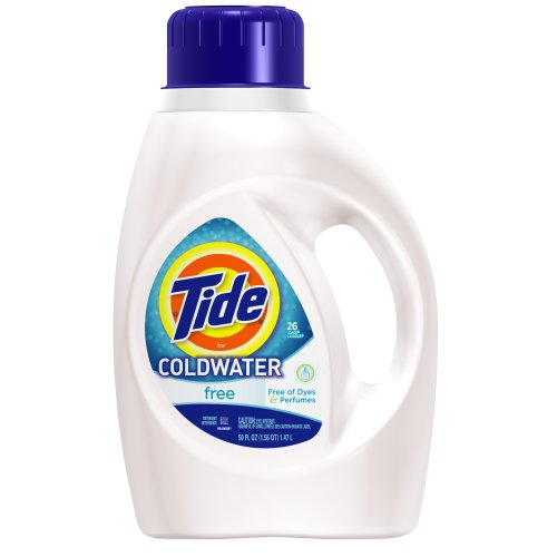 - Tide Free for Coldwater Liquid Laundry Detergent, 26 Loads, 50-Ounce