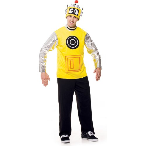 Paper Magic Men's Yo Gabba Gabba! - Plex Adult Costume Medium Yellow