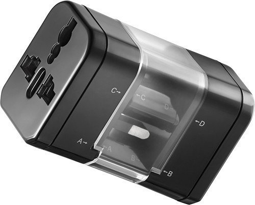 Insignia™ - Global Travel Adapter Kit - Black