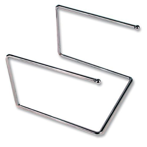 (Royal Industries Pizza Tray Stand, Chrome Plated 12'' x 12'' x 7'' High, Silver)
