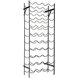 "Oenophilia Alexander Wine Rack - 40 Bottle, Sturdy Metal Construction, Wobble-Free, Measures 39.5""H x 15""W x 8"" D"